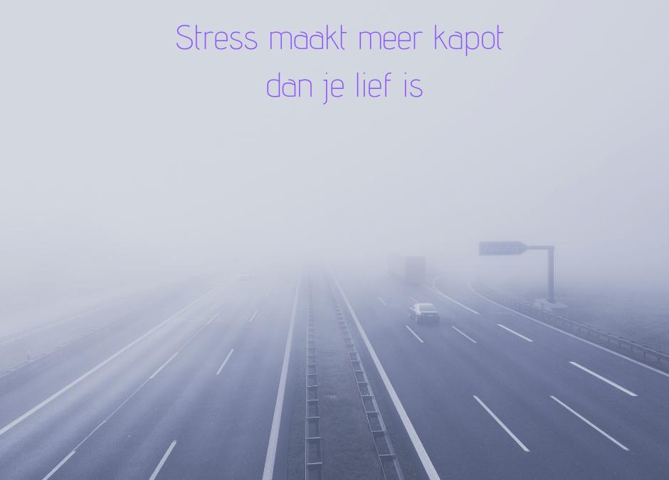 Stress maakt meer kapot dan je lief is